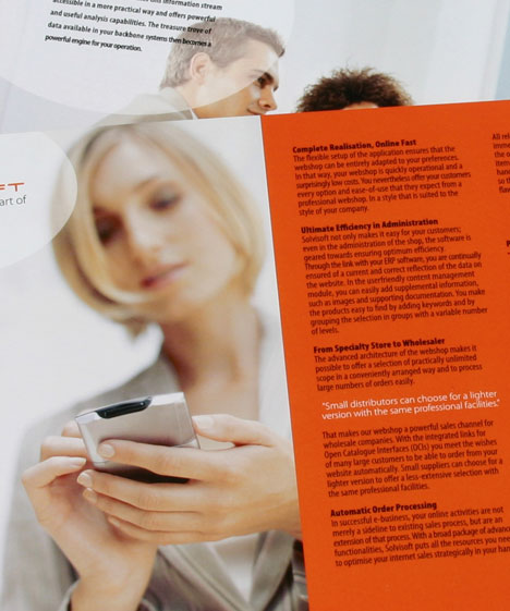 Brochure design solvi soft