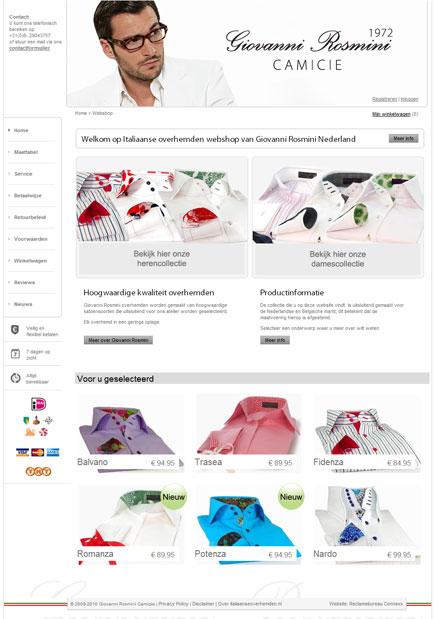 Professioneel design webshop
