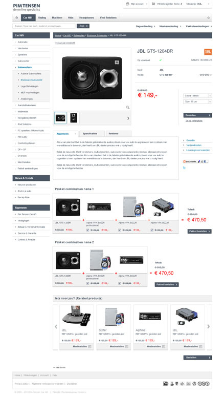 PT: details webwinkel pagina