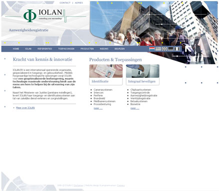Website design voorbeeld