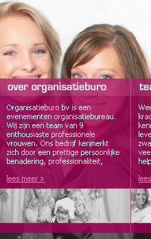 Website design Organisatieburo