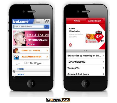 Mobiele website C1000 en bol-com
