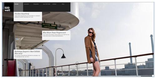 Webdesign trends in 2013: voorbeeld van web design inclusief fullscreen background image