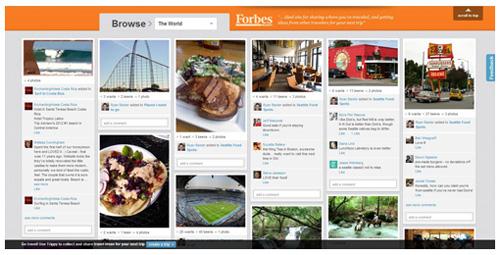 Webdesign trends in 2013: voorbeeld van pinboard style webdesign