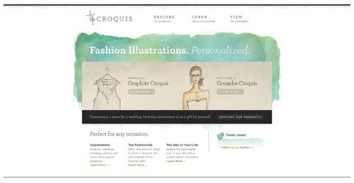 Webdesign trends in 2013: voorbeeld van web design voorzien van rustige color schemes