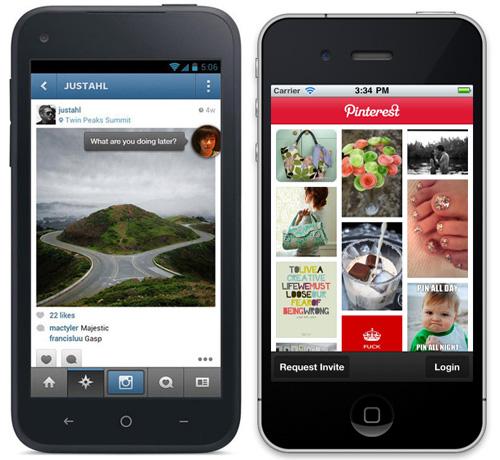 Webdevelopment in 2013: Facebook Home en Pinterest App