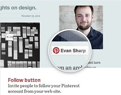 Pinterest marketing - Follow button