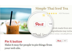 Pinterest marketing - Pin It button